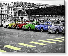 Deux Chevaux In Color Acrylic Print