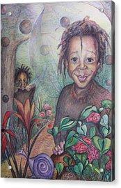 Deven's World Acrylic Print by Joyce McEwen Crawford
