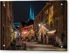 Deventer, Roggestraat Acrylic Print by Martin Podt