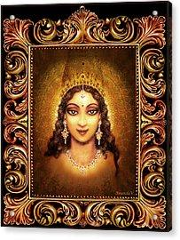 Devi Darshan In A Frame Acrylic Print by Ananda Vdovic