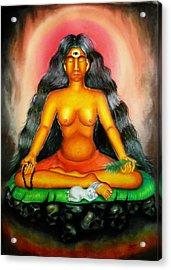 Devi Kali Goddess Acrylic Print by Sri Mala