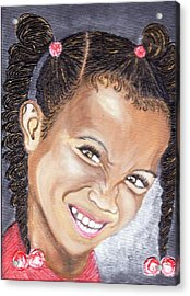 Devilish Grin  Acrylic Print by Keenya  Woods