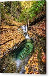 Devils Bathtub Autumn Acrylic Print