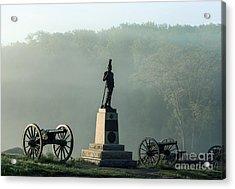 Devil's Den Monument At Gettysburg Acrylic Print by John Greim