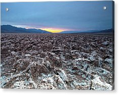 Acrylic Print featuring the photograph Devil's Golf Course  by Catherine Lau
