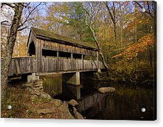 Acrylic Print featuring the photograph Devil's Hopyard Covered Bridge by Kirkodd Photography Of New England