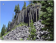 Devil's Postpile - Nature's Masterpiece Acrylic Print by Christine Till
