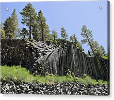 Devil's Postpile - Talk About Natural Wonders Acrylic Print by Christine Till