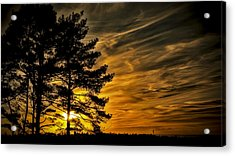 Devils Sunset Acrylic Print by Chris Boulton