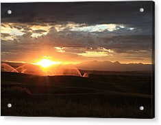 Devils Thumb Sunrise Acrylic Print by Kevin Justin