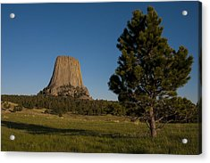 Acrylic Print featuring the photograph Devil's Tower by Gary Lengyel