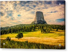Devil's Tower - The Other Side Acrylic Print