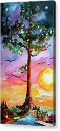 Devil's Tower Tree Once Upon A Time Acrylic Print