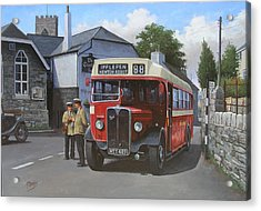 Devon General Aec Regal. Acrylic Print by Mike  Jeffries