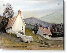 Devonshire Cottage I Acrylic Print by Charles Rowland
