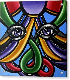 Colorful Contemporary Canvas Painting, Eyeball Artwork, Colorful Modern Art                       Acrylic Print