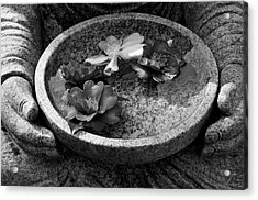Devotional Black-and-white Version Acrylic Print