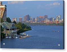 Dewolfe Boathouse Boston Ma Acrylic Print by Toby McGuire