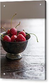 Dewy Cherries Acrylic Print