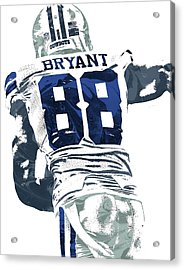 Dex Bryant Dallas Cowboys Pixel Art 6 Acrylic Print by Joe Hamilton