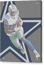 Dez Bryant Dallas Cowboys Contour Art Acrylic Print by Joe Hamilton