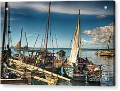 Dhow Sailing Boat Acrylic Print by Amyn Nasser