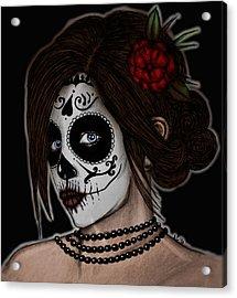 Dia De Los Meurtos Acrylic Print by Angela Conway