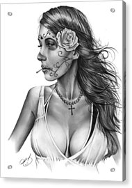 Dia De Los Muertos 1 Acrylic Print by Pete Tapang