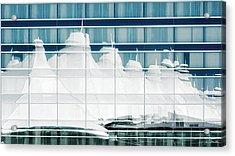 Acrylic Print featuring the photograph Dia Hotel Reflection by Joe Bonita