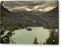 Diablo Lake - Le Grand Seigneur Of North Cascades National Park Wa Usa Acrylic Print by Christine Till