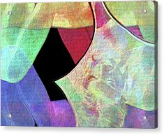 Diametrically Opposed Abstract Wall Art Acrylic Print