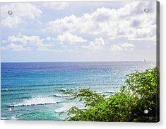 Diamond Head Beach Acrylic Print by Jera Sky