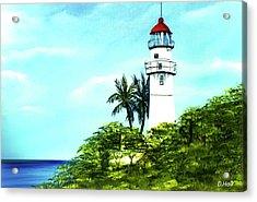 Diamond Head Lighthouse #10 Acrylic Print by Donald k Hall