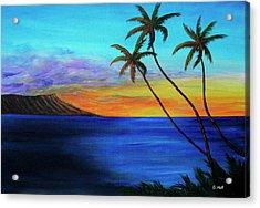 Diamond Head Sunrise #327 Acrylic Print by Donald k Hall