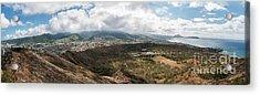 Diamond Head View Panoramic Acrylic Print