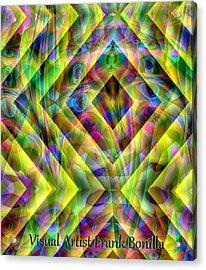 Acrylic Print featuring the digital art Diamond In The Grass by Visual Artist Frank Bonilla