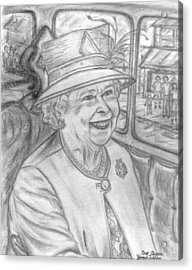 Acrylic Print featuring the drawing Diamond Jubilee by Teresa White