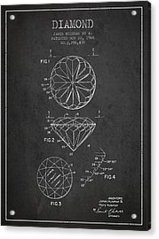 Diamond Patent From 1966- Charcoal Acrylic Print by Aged Pixel