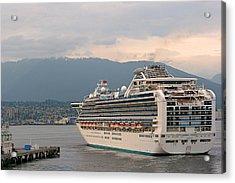 Diamond Princess Leaving Vancouver British Columbia Canada Acrylic Print