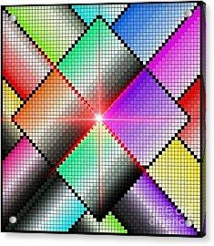 Diamond Rainbow Acrylic Print