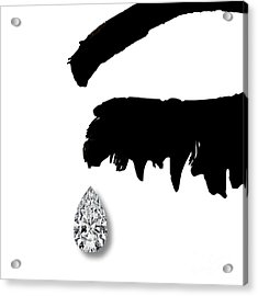 Diamond Teardrop Acrylic Print by Mindy Sommers