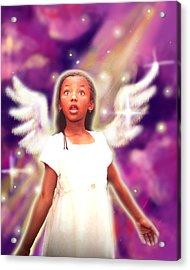 Diamond.angelic 3 Acrylic Print by Nada Meeks