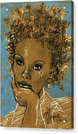 Acrylic Print featuring the drawing Diamond's Daughter by P J Lewis