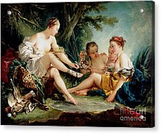 Acrylic Print featuring the painting Diana After The Hunt by Pg Reproductions