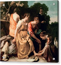 Diana And Her Companions Acrylic Print by Jan Vermeer
