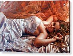Diana Acrylic Print by Arthur Braginsky