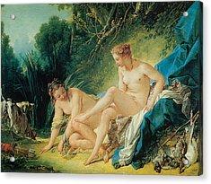 Diana Bathing Acrylic Print by Francois Boucher