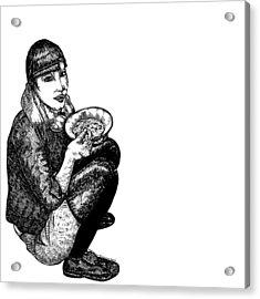 Diana Eating Acrylic Print by Karl Addison
