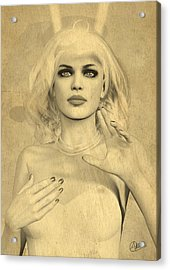 Diana Huntress Old Sepia Acrylic Print by Quim Abella