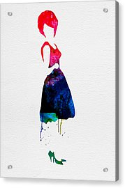 Diana Watercolor Acrylic Print by Naxart Studio